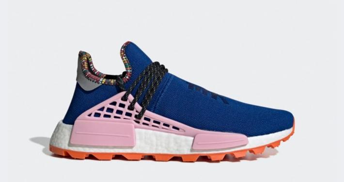 Pharrell Williams x Adidas Solar Hu NMD Blå Pink EE7579