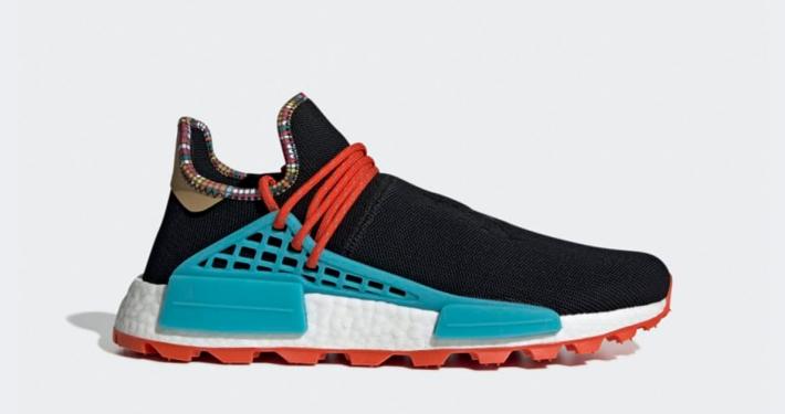 Pharrell Williams x Adidas Solar Hu NMD Sort Blå EE7582