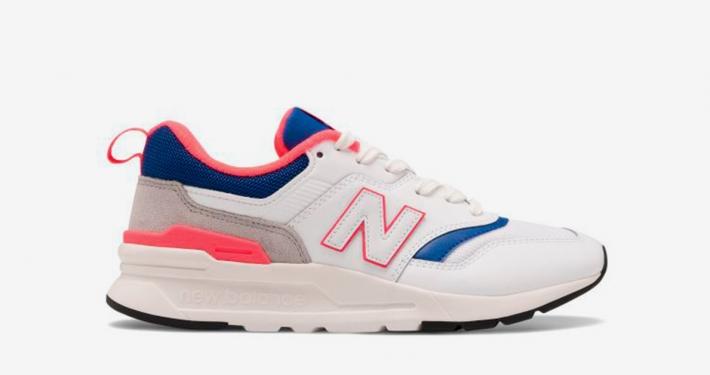 New Balance 997H Hvid Blå Pink CM997HAJ