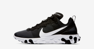Nike React Element 55 Sort Hvid BQ6166-003