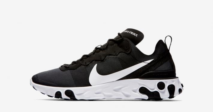Nike React Element 55 Sort Hvid BQ6166-003