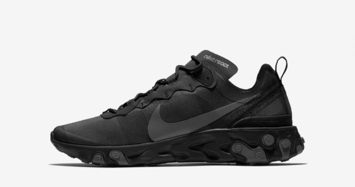Nike React Element 55 Triple Black BQ6166-008