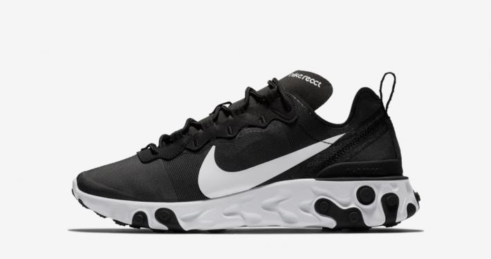 Nike React Element 55 Sort Hvid til kvinder BQ2728-600