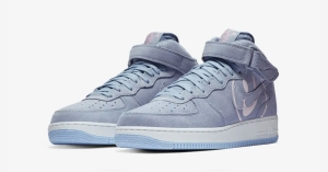 Nike Air Force 1 Mid Lyseblå Have a Nike Day