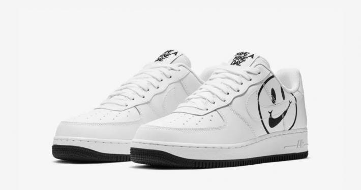 Nike Air Force 1 Low Hvid Sort Have a Nike Day