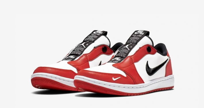 Nike Air Jordan 1 Low Slip-On Chicago til Kvinder