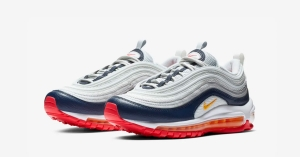 Nike Air Max 97 Pure Platinum Orange til Kvinder