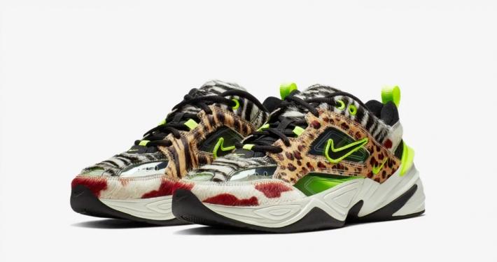 Nike M2K Tekno Neon Safari