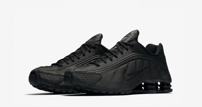 Nike Shox R4 Triple Black