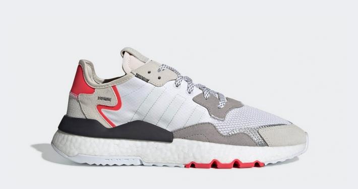 Adidas Nite Jogger Hvid Pink F34123