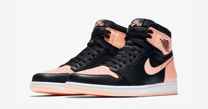 Nike Air Jordan 1 Sort Pink