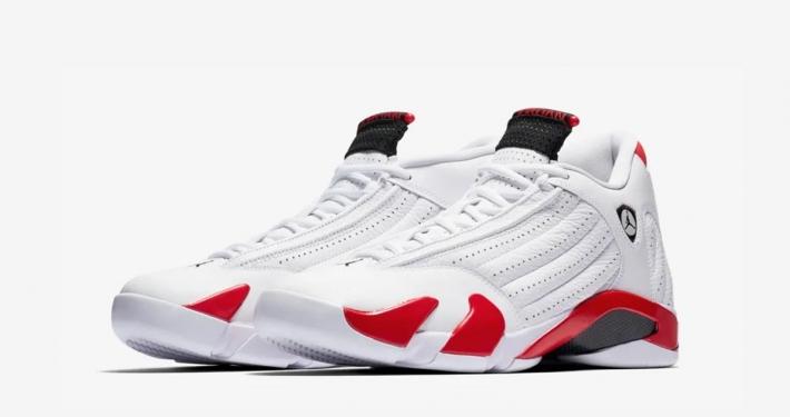 Nike Air Jordan 14 Hvid Rød 487471-100