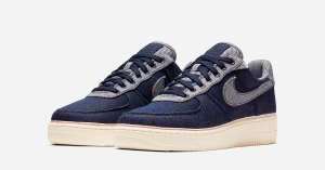 3x1 x Nike Air Force 1 Low Raw Indigo Denim