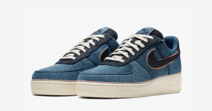 3x1 x Nike Air Force 1 Low Stonewash Blue Denim