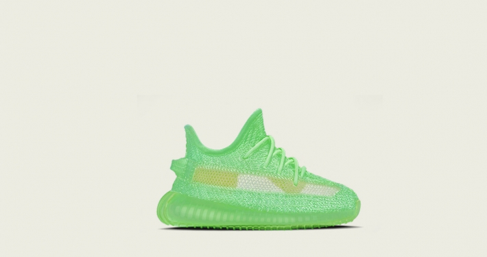 Adidas Yeezy Boost 350 V2 Glow til Børn