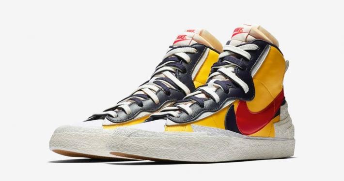 Sacai x Nike Blazer Mid Gul BV0072-700