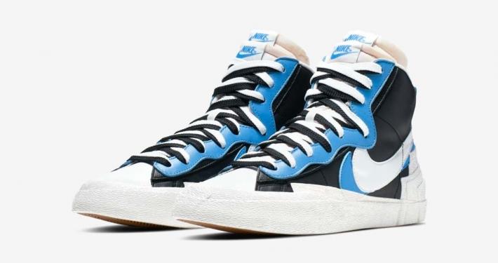 Sacai x Nike Blazer Mid Sort Blå