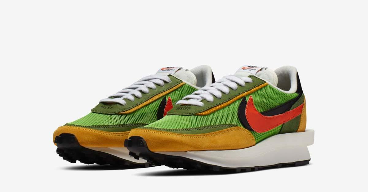 brand new e9033 31c6d Sacai x Nike LDV Waffle Daybreak Grøn Gul