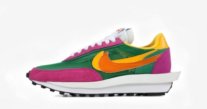 Sacai x Nike LDV Waffle Pink Green BV0073-301