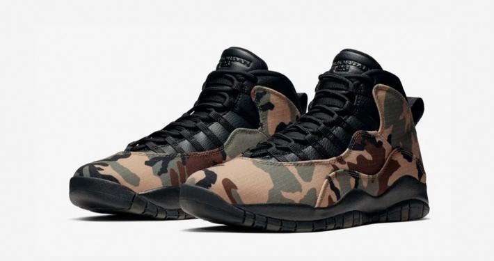 Nike Air Jordan 10 Woodland Camo