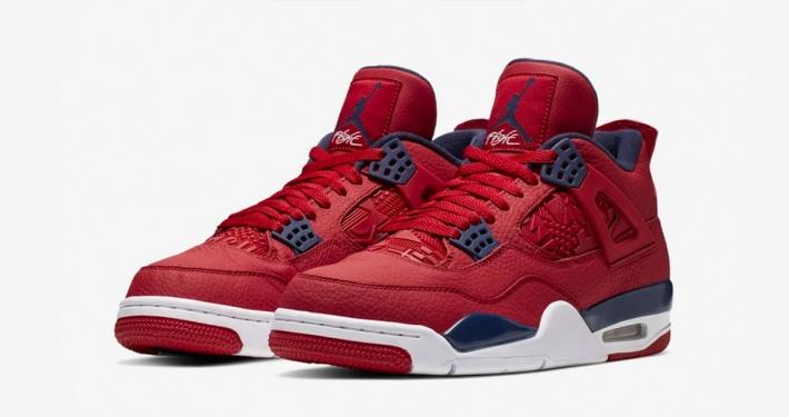 Nike Air Jordan 4 Rød