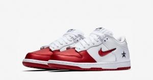Supreme x Nike SB Dunk Low Rød Hvid