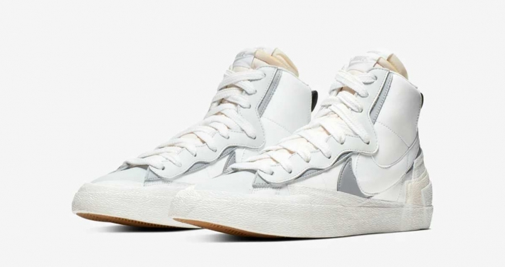Sacai x Nike Blazer Mid White Wolf Grey BV0072-100