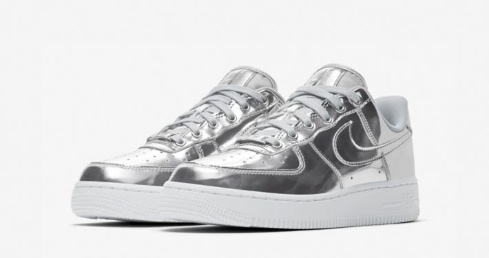 Nike Air Force 1 Low Sølv til kvinder