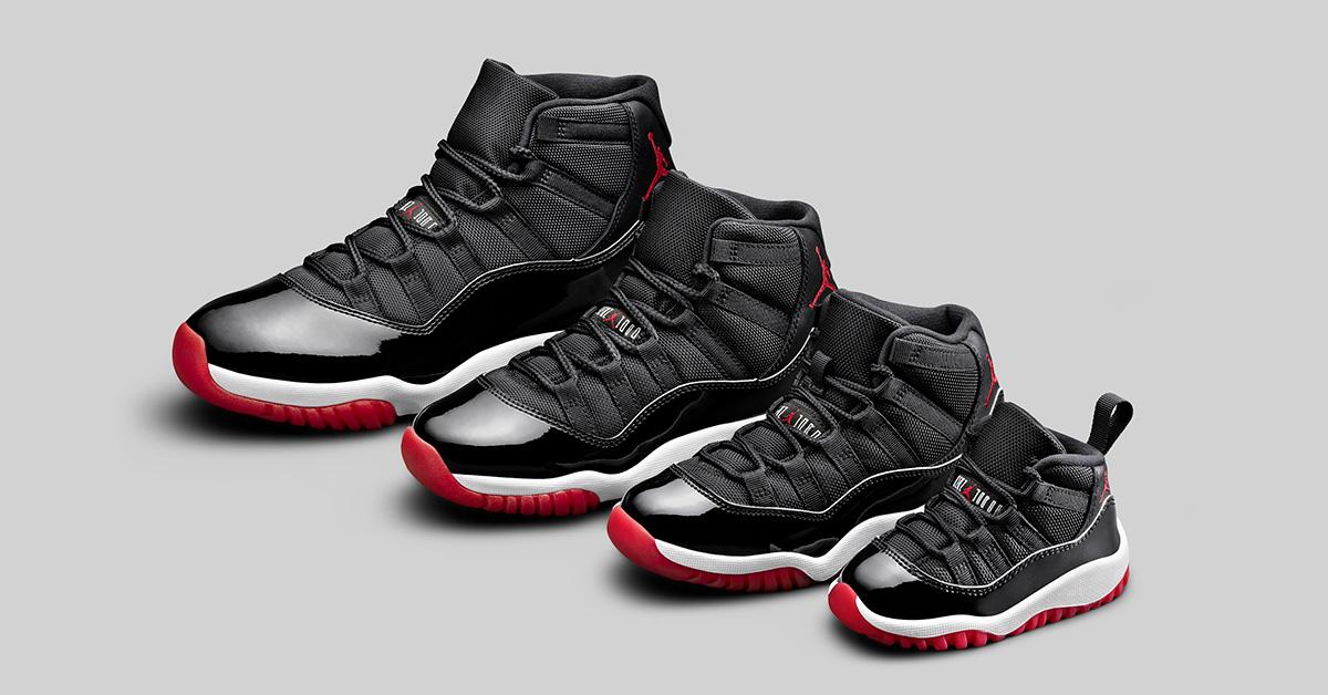 Nike Air Jordan 11 BRED til børn