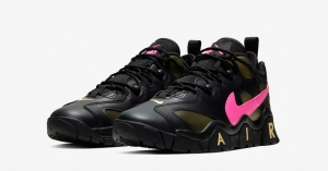 Nike Air Barrage Low Sort Pink