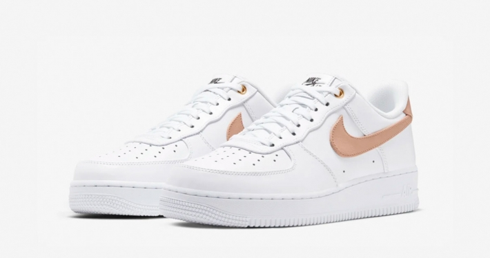 Nike Air Force 1 Low Premium Hvid Vachetta Tan