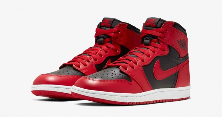 Nike Air Jordan 1 High 85 Rød Sort BQ4422-600