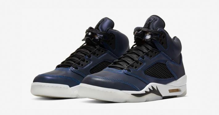 Nike Air Jordan 5 Iridescent Oil Grey til Kvinder