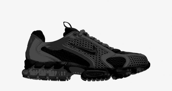 Stüssy x Nike Air Zoom Spiridon Caged CU1854-001