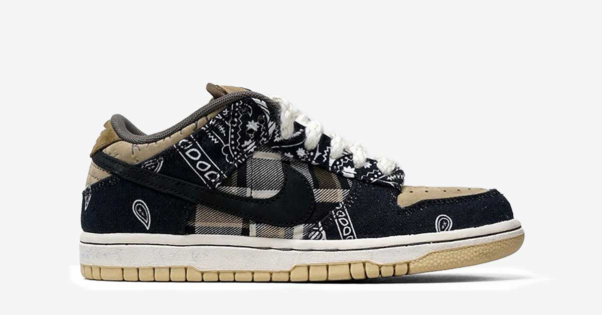 Travis Scott x Nike SB Dunk Low Cool Sneakers