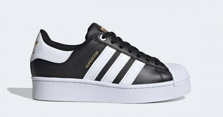Adidas Superstar Bold Sort Hvid FV3335