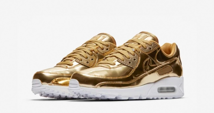 Nike Air Max 90 Guld til Kvinder CQ6639-700