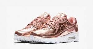 Nike Air Max 90 Rose Gold til Kvinder CQ6639-600
