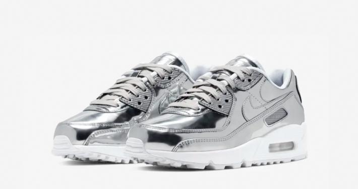 Nike Air Max 90 Sølv til Kvinder CQ6639-001