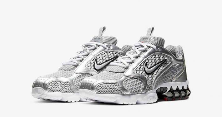 Nike Zoom Spiridon Caged Silver CJ1288-001