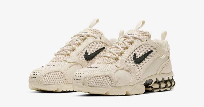 Stüssy x Nike Air Zoom Spiridon Caged Fossil CQ5486-200
