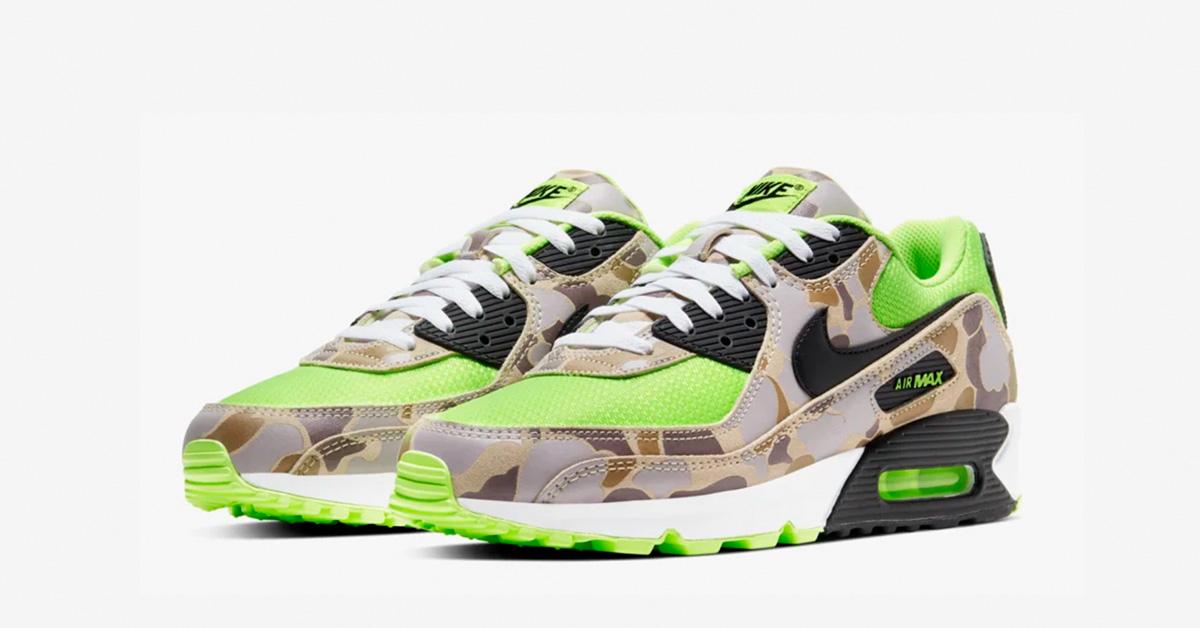 Nike Air Max 90 Ghost Green Duck Camo CW4039-300
