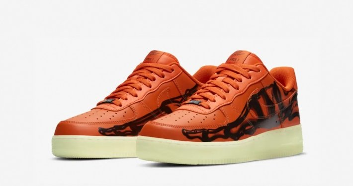 Nike Air Force 1 Low Skeleton Orange CU8067-800