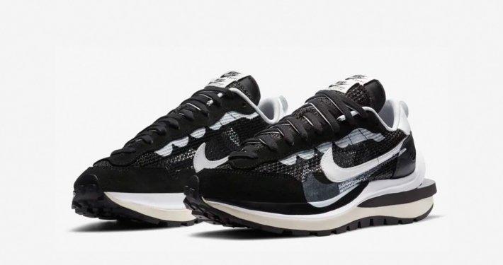 Sacai x Nike VaporWaffle Sort Hvid