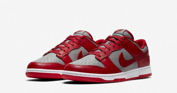 Nike Dunk Low Rød Grå
