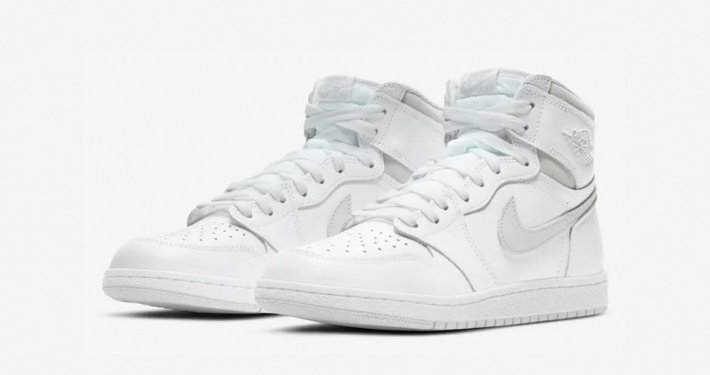 Nike Air Jordan 1 High Hvid Grå