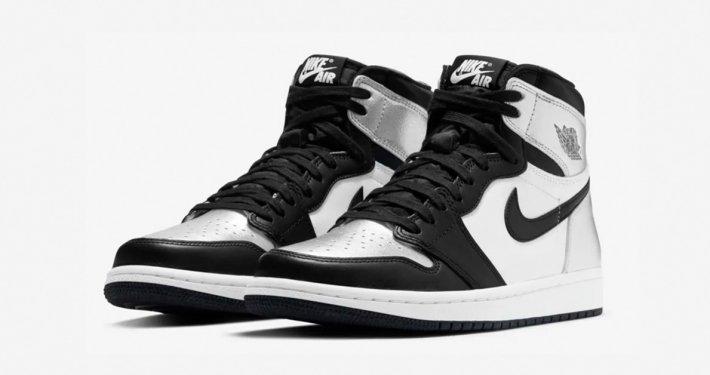 Nike Air Jordan 1 High Silver Toe til Kvinder