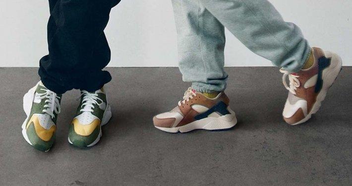 Stüssy x Nike Air Huarache LE vender tilbage