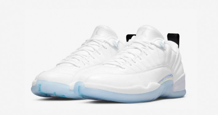 Nike Air Jordan 12 Low Hvid Lyseblå