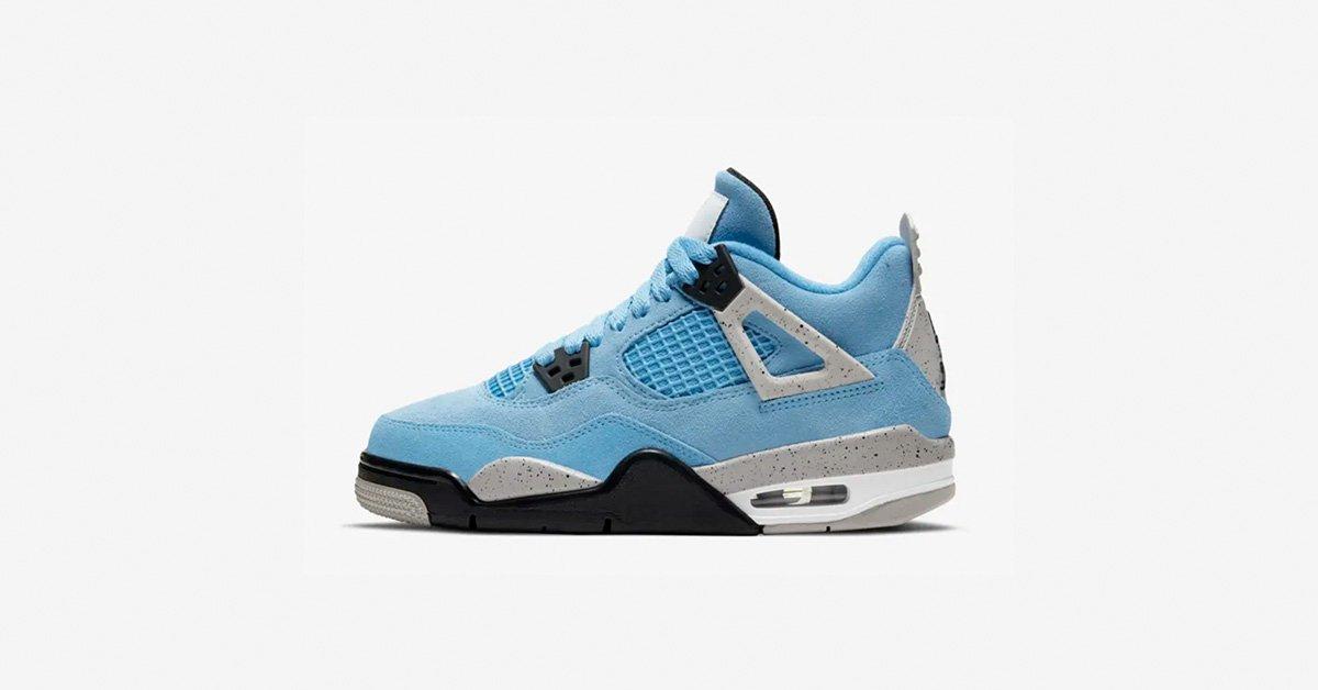 Nike Air Jordan 4 Lyseblå til børn